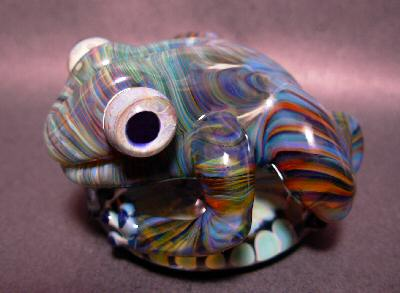 5 Fish Designs - Flamework - Frog Sculpture - Flameworked Borosilicate Glass Art Sculpture by Karl Tseu