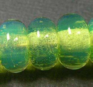 5FISH-Handmade-Lampwork-Murano-Italian-Glass-Set-Spacer-Beads-Sweet-Almond